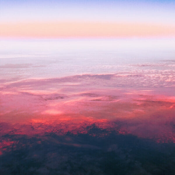 Gorgeous Purple and Crimson Clouds Seen During Sunset - Shamans Throughout History Have Studied and Honored The Spirit of Clouds and Sky