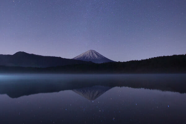 Shamanism is the oldest spiritual practice on the planet. This picture of a mountain and starry night sky reflected in a lake, embodies the idea of the web of life and that everything is interrelated and alive, a principle of animism