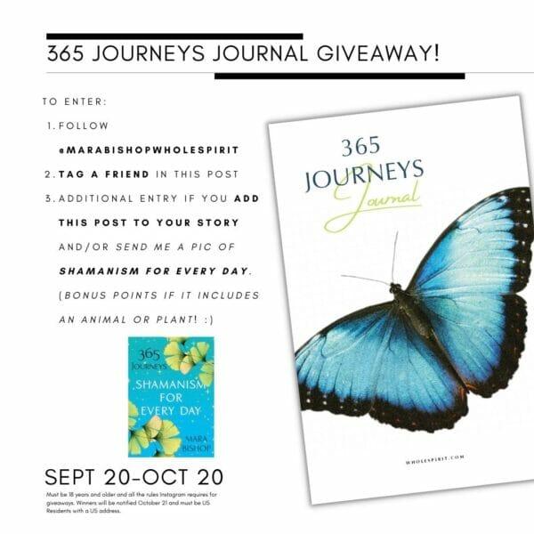 365 Journeys Journal Instagram Giveaway